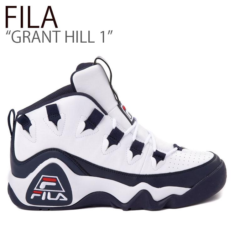 フィラ スニーカー FILA メンズ GRANT HILL 1 グラントヒル 1 WHITE NAVY ホワイト ネイビー FS1HTB3420X シューズ