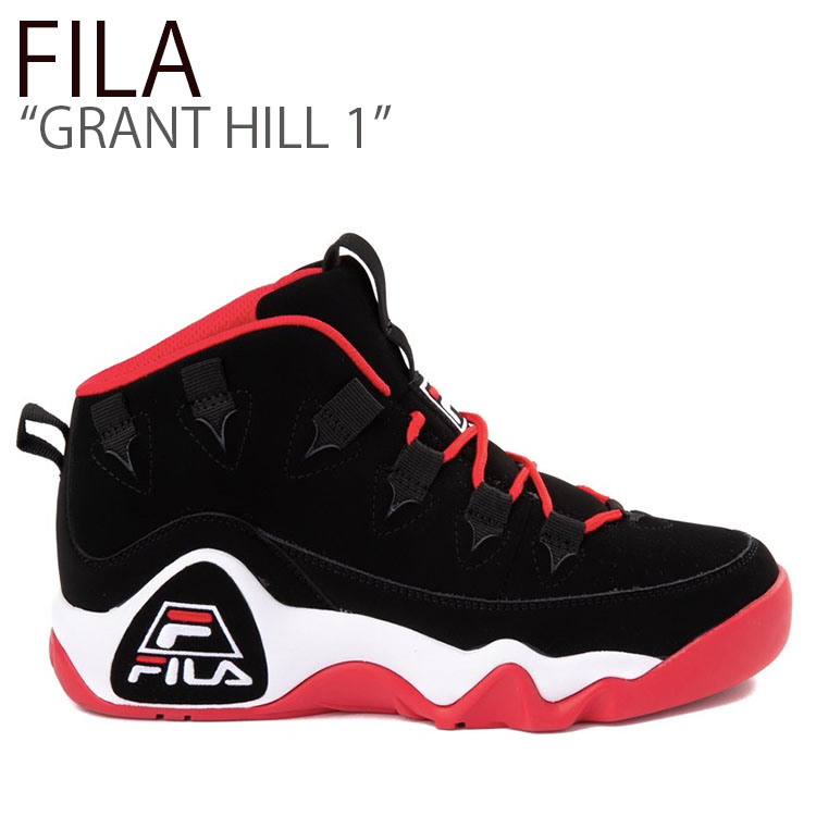 フィラ スニーカー FILA メンズ GRANT HILL 1 グラントヒル 1 BLACK RED ブラック レッド FS1HTB3421X シューズ
