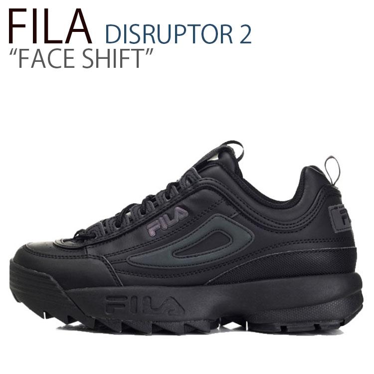 フィラ ディスラプター スニーカー FILA メンズ レディース DISRUPTOR 2 FACE SHIFT ディスラプター2 フェイス シフト BLACK ブラック FS1HTB3510X シューズ