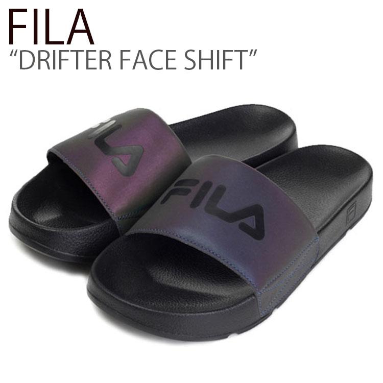 フィラ スリッパ FILA メンズ レディース DRIFTER FACE SHIFT ドリフター フェイス シフト BLACK ブラック FS1HTB3512X シューズ