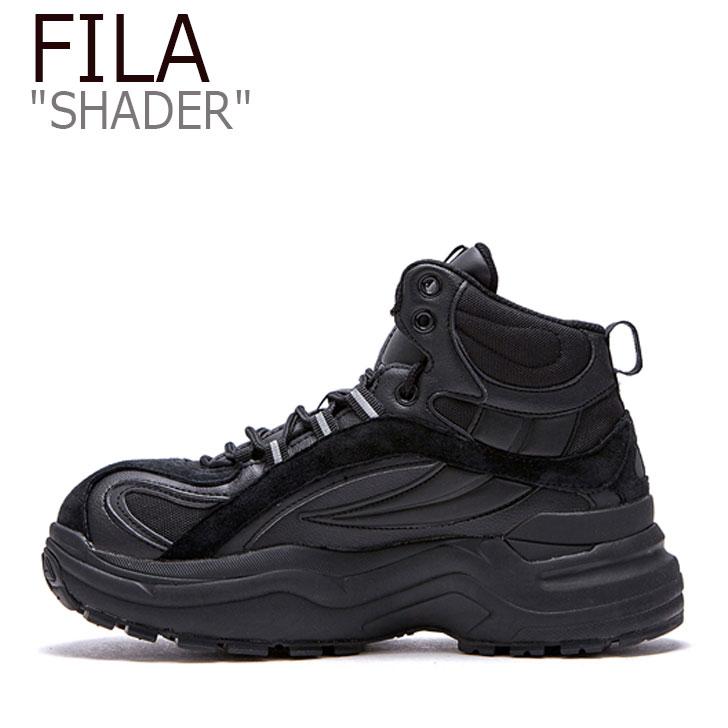 フィラ スニーカー FILA メンズ レディース SHADER シェーダー BLACK ブラック FS1RIB3122X FLFLAS1U38 シューズ