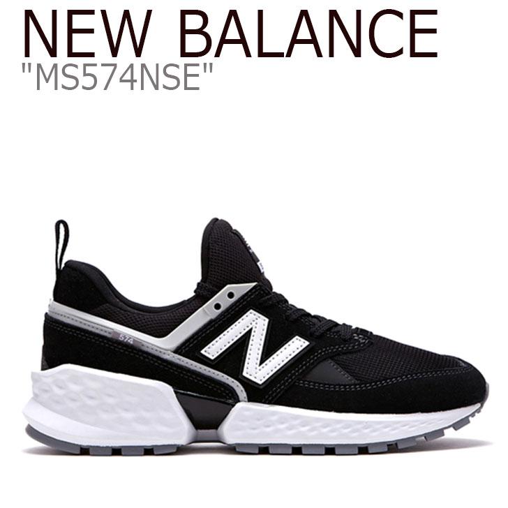 ニューバランス 574 スニーカー New Balance メンズ レディース MS 574 NSE New Balance574 BLACK WHITE ブラック ホワイト MS574NSE シューズ 【中古】未使用品