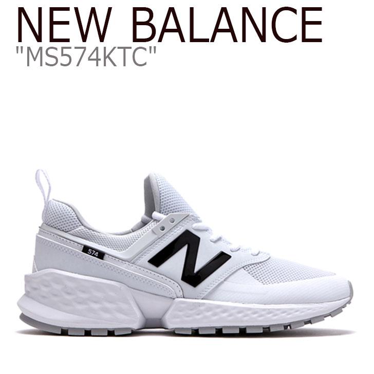ニューバランス 574 スニーカー New Balance メンズ レディース MS 574 KTC New Balance574 WHITE BLACK ホワイト ブラック MS574KTC シューズ 【中古】未使用品