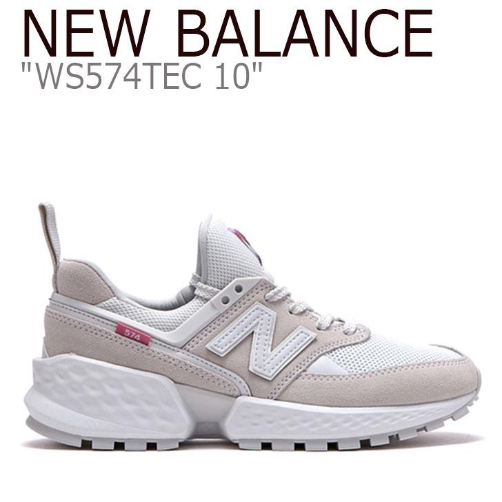 New WS Balance574 Balance シューズ レディース WS574TEC スニーカー TEC 【中古】未使用品 New WHITE ニューバランス 574 ホワイト 574