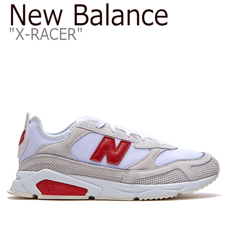 ニューバランス スニーカー New Balance メンズ レディース X-RACER X-レーサー WHITE ホワイト MSXRCSLD FLNB9F3U44 NBPD9B751W シューズ 【中古】未使用品