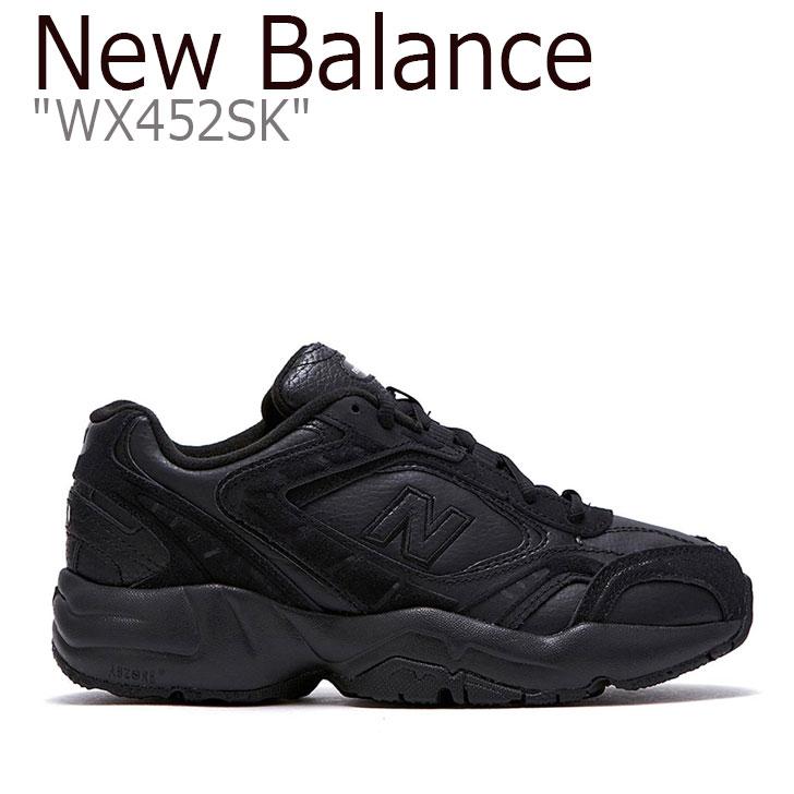 ブラック New ニューバランス WX Balance スニーカー SK 452 BLACK Balance452 【中古】未使用品 New 452 NBPT9B001B シューズ WX452SK メンズ