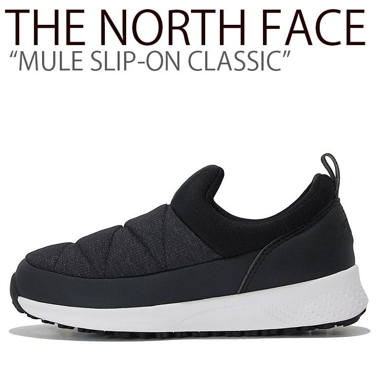 ノースフェイス スニーカー THE NORTH FACE メンズ レディース MULE SLIP-ON CLASSIC ミュール スリッポン クラシック MATT BLACK マットブラック NS93K50C/K シューズ 【中古】未使用品