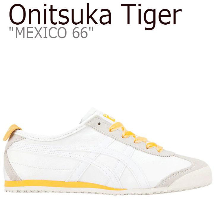 オニツカタイガー メキシコ 66 スニーカー Onitsuka Tiger レディース MEXICO 66 メキシコ 66 WHITE ホワイト TIGER YELLOW タイガーイエロー 1182A104-101 シューズ