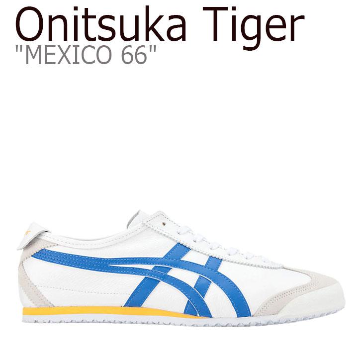オニツカタイガー メキシコ66 スニーカー Onitsuka Tiger メンズ レディース MEXICO 66 メキシコ 66 WHITE FREEDOM BLUE ホワイト ブルー 1183A201-100 シューズ