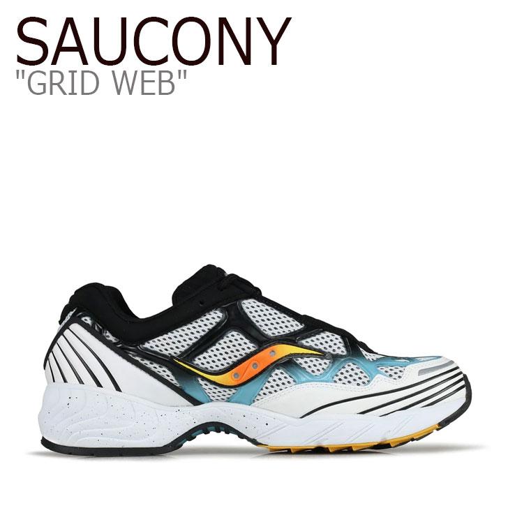 サッカニー スニーカー SAUCONY メンズ レディース GRID WEB グリッド ウェブ WHITE GREY BLUE ホワイト グレー ブルー S70466-1 シューズ