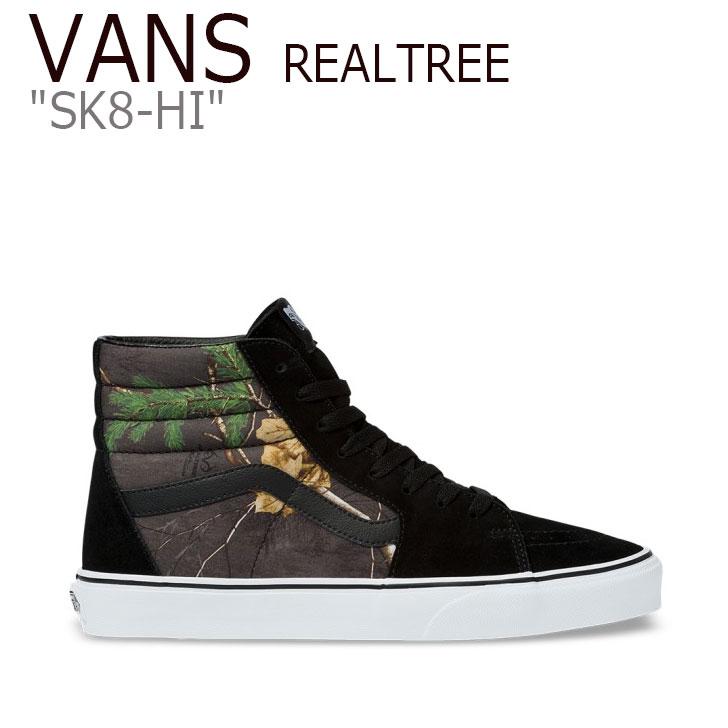 バンズ スケートハイ スニーカー VANS メンズ VANS X REALTREE SK8-HI バンズXリアルツリー スケート ハイ BLACK ブラック VN0A4BV6TGO1 シューズ