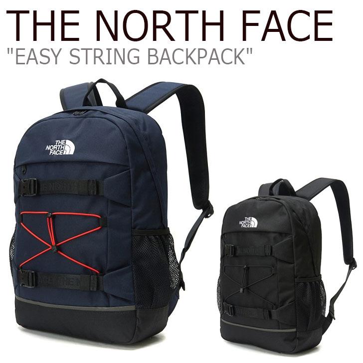 ノースフェイス リュック THE NORTH FACE メンズ レディース EASY STRING BACKPACK イージー ストリング バックパック NAVY ネイビー BLACK ブラック NM2DL06J/K バッグ 【中古】未使用品