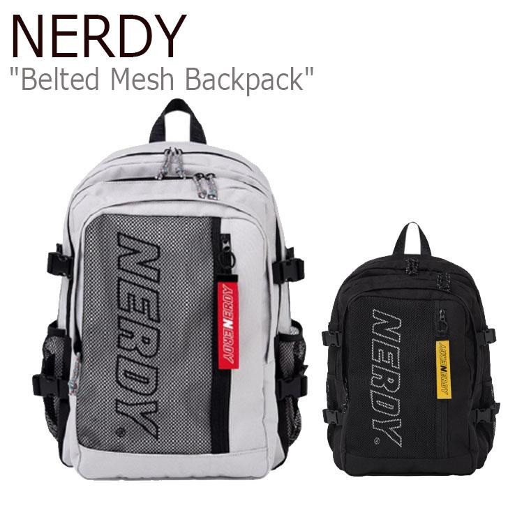 ノルディ リュックサック NERDY メンズ レディース Belted Mesh Backpack ベルテッド メッシュ バックパック LIGHT グレー 黒 ライトグレー ブラック PNES20AA013501/0101 バッグ