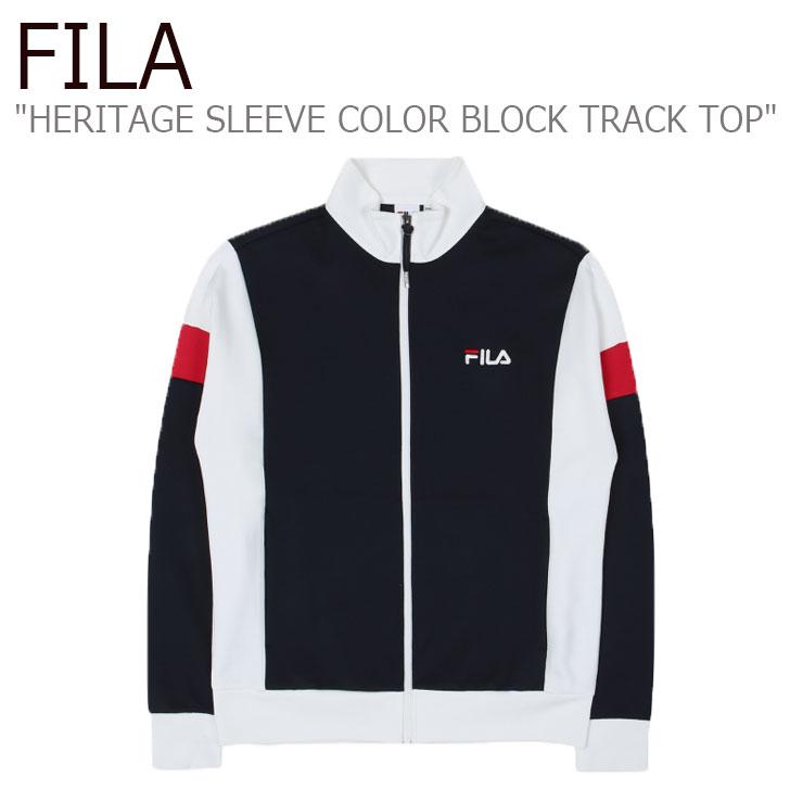 フィラ ジップアップ FILA メンズ レディース HERITAGE SLEEVE COLOR BLOCK TRACK TOP ヘリテージ スリーブ カラー ブロック トラックトップ INK NAVY インク ネイビー FS2FTC1104X ウェア