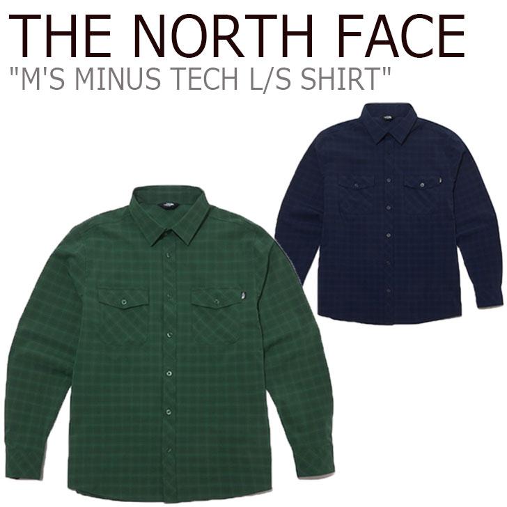ノースフェイス シャツ THE NORTH FACE メンズ M'S MINUS TECH L/S SHIRT マイナス テック ロングスリーブシャツ GREEN グリーン NAVY ネイビー NH8LL00A/B ウェア 【中古】未使用品
