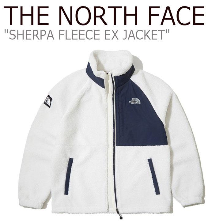 フリース ノースフェイス THE NORTH FACE メンズ レディース SHERPA FLEECE EX JACKET シェルパ フリースジャケット IVORY アイボリ NJ4FL61A ウェア 【中古】未使用品