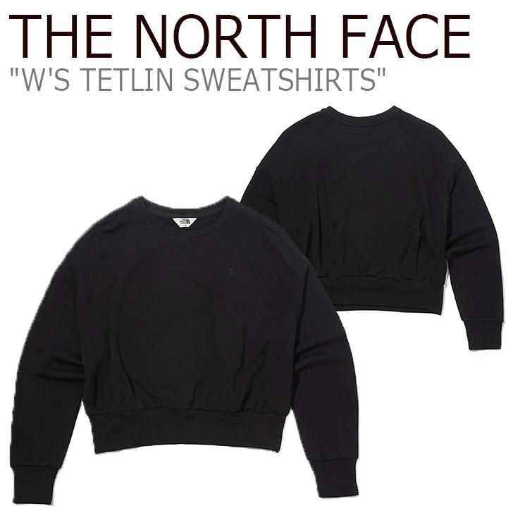 ノースフェイス トレーナー THE NORTH FACE レディース W'S TETLIN SWEATSHIRTS テトリン スウェットシャツ BLACK ブラック NM5MK80J ウェア 【中古】未使用品