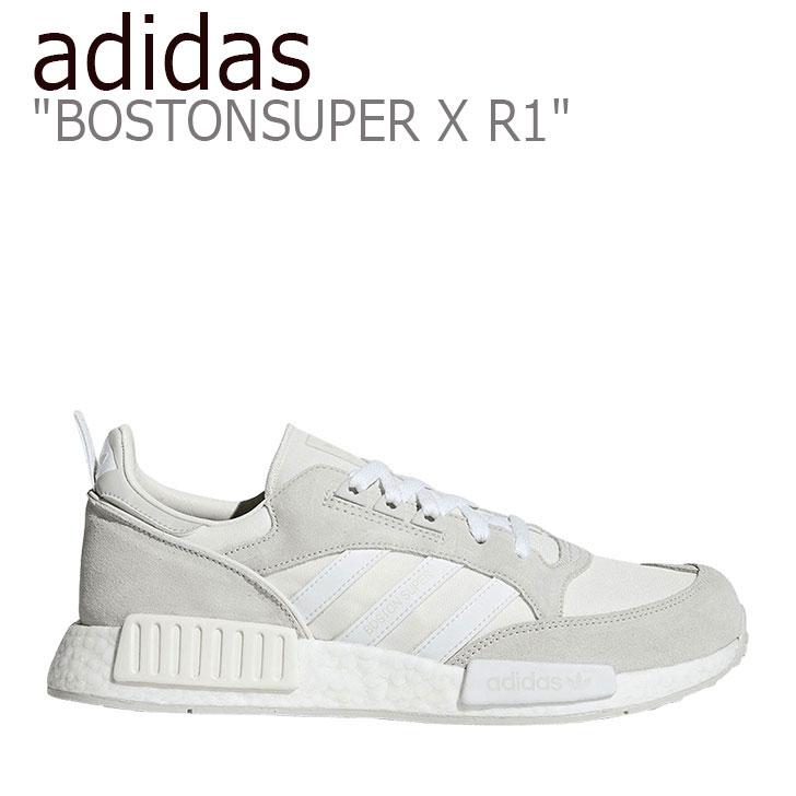 アディダス スニーカー adidas メンズ レディース BOSTONSUPER X R1 ボストンスーパー WHITE GREY ホワイト グレー G27834 シューズ 【中古】未使用品