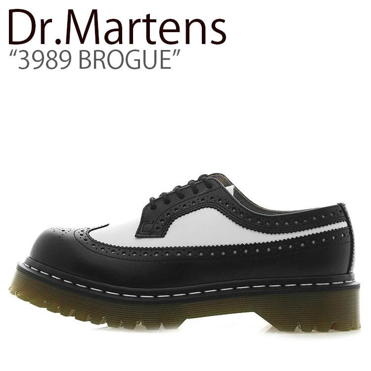 ドクターマーチン スニーカー Dr.Martens メンズ レディース 3989 BROGUE 3989 ブローグ BLACK WHITE ブラック ホワイト 10458001 シューズ 【中古】未使用品