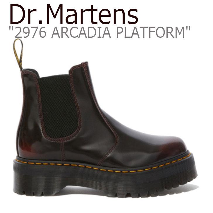 ドクターマーチン スニーカー Dr.Martens レディース 2976 ARCADIA PLATFORM 2976 アルカディア プラットホーム シューズ BURGUNDY バーガンディー 25237600 シューズ 【中古】未使用品