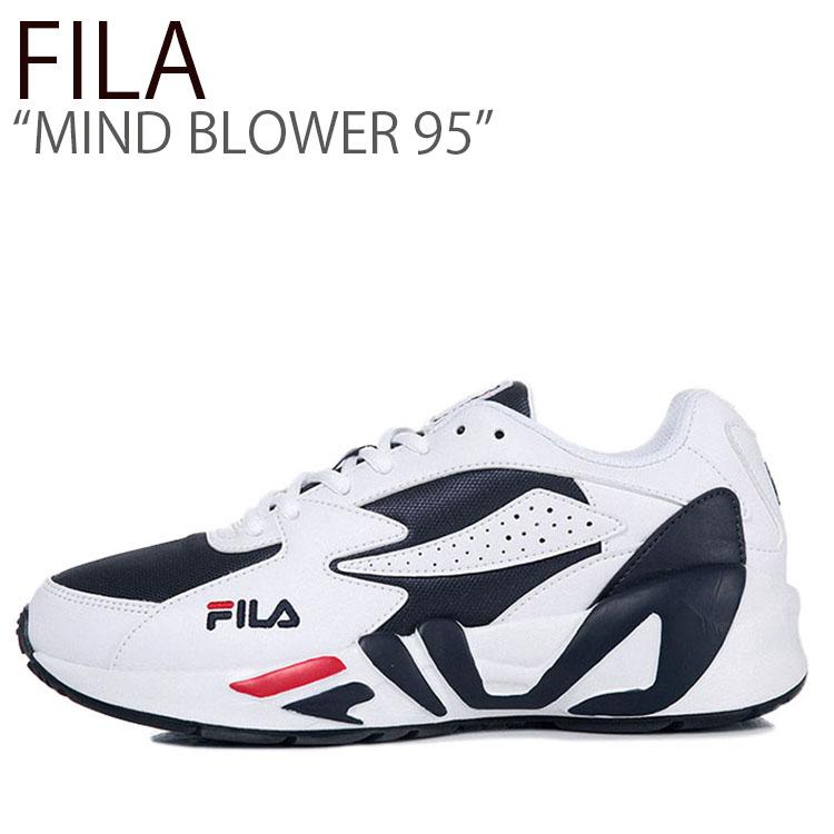 フィラ スニーカー FILA メンズ MIND BLOWER 95 マインドブロワー 95 WHITE NAVY ホワイト ネイビー FS1HTA3021X シューズ