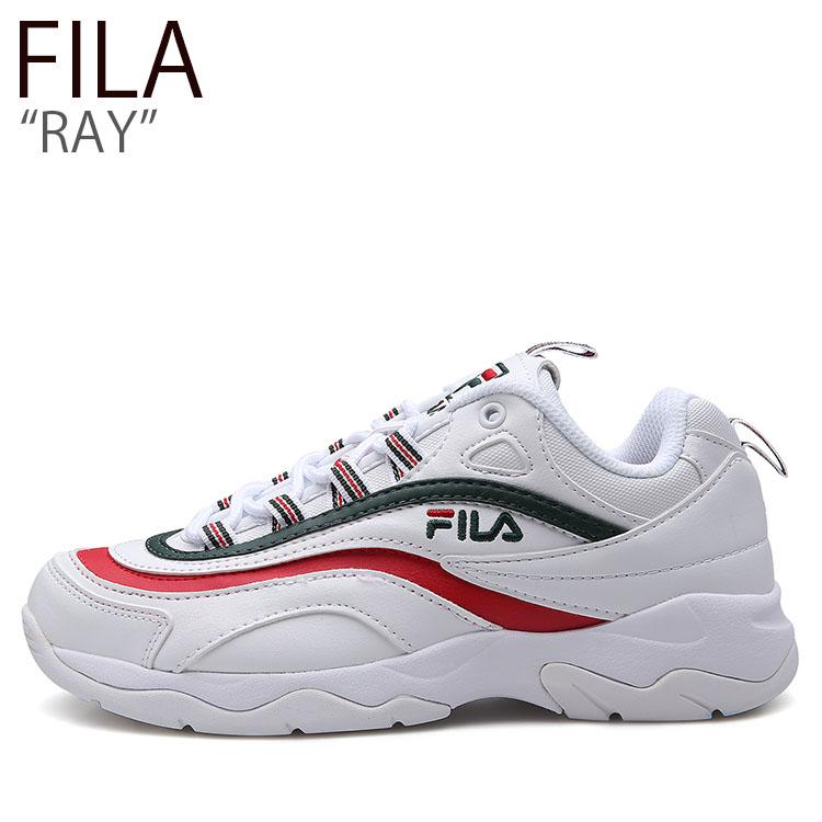 フィラ スニーカー FILA レディース RAY レイ WHITE RED GREEN ホワイト レッド グリーン SP1B7B3252X シューズ