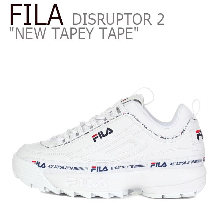フィラ ディスラプター スニーカー FILA メンズ レディース DISRUPTOR 2 NEW TAPEYTAPE ディスラプター2 ニュー テーピーテープ 1GM00848-100 シューズ