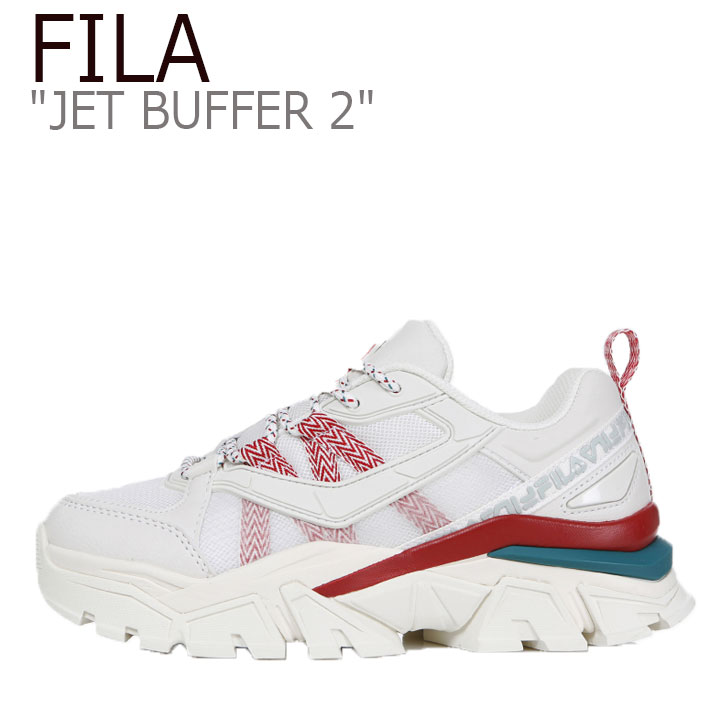 フィラ スニーカー FILA メンズ レディース JET BUFFER2 ジェット バッファ2 WHITE RED ホワイト レッド 1JM00794-236 シューズ
