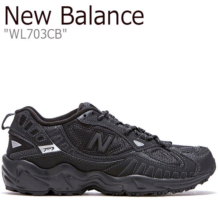 ブラック WL WL703CB 703 703 BLACK new New balance レディース NBPDAS179K CB シューズ スニーカー 【中古】未使用品 Balance ニューバランス 703 FLNBAA1W20