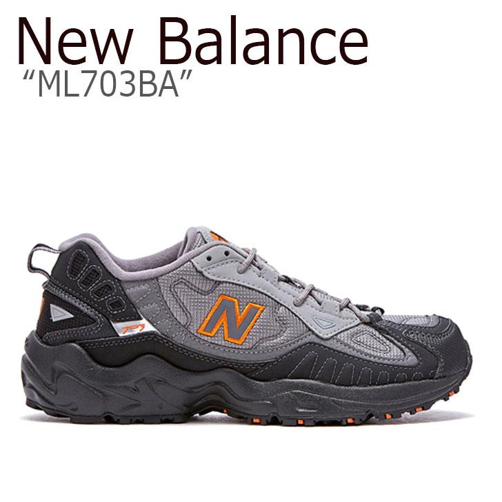 ニューバランス 703 スニーカー New Balance メンズ ML 703 BA new balance 703 DARK GREY ダーク グレー FLNBAA1M18 NBPDAS153X ML703BA シューズ 【中古】未使用品