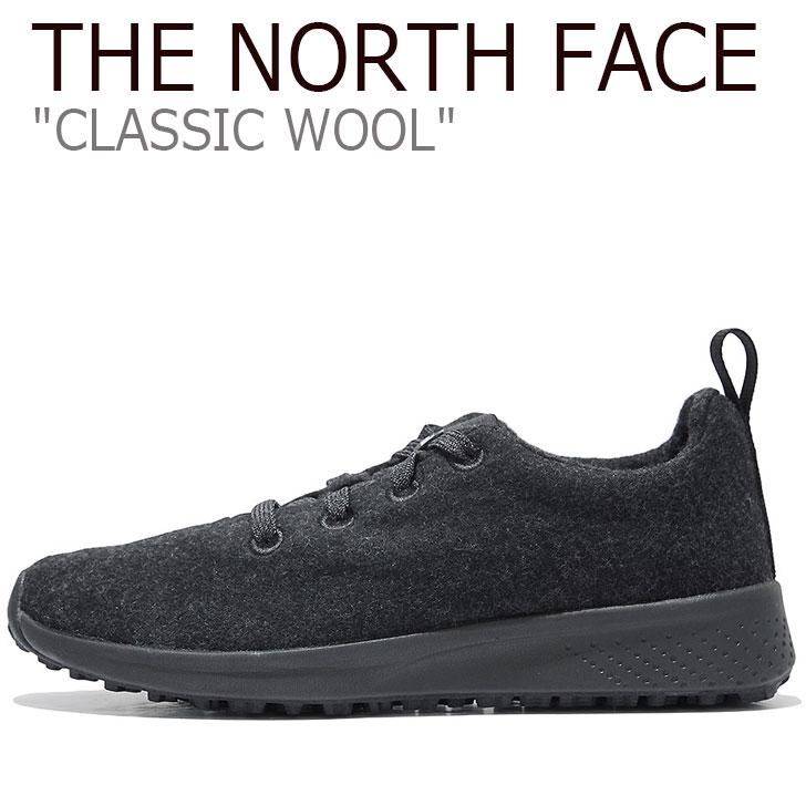 ノースフェイス スニーカー THE NORTH FACE メンズ レディース CLASSIC WOOL クラシック ウール BLACK ブラック NS93K63J シューズ 【中古】未使用品