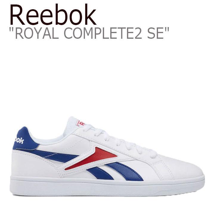 リーボック スニーカー REEBOK メンズ レディース REEBOK ROYAL COMPLETE2 SE リーボックロイヤルコンプリート2 エスイー WHITE BLUE RED ホワイト ブルー レッド FU7844 RBKFU7844 シューズ