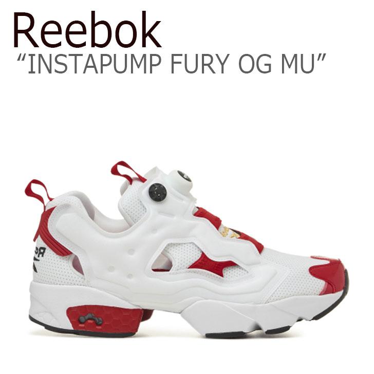 リーボック ポンプフューリー スニーカー REEBOK メンズ レディース INSTAPUMP FURY OG MU インスタポンプ フューリー OG MU WHITE ホワイト RED レッド FV0418 シューズ