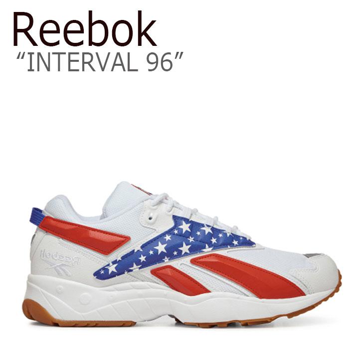 リーボック スニーカー REEBOK メンズ レディース INTERVAL 96 インターバル96 WHITE ホワイト RED レッド BLUE ブルー FV5473 シューズ