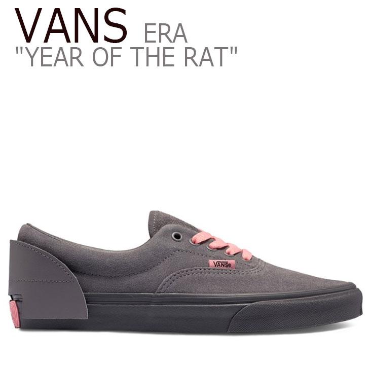 バンズ エラ スニーカー VANS メンズ レディース ERA YEAR OF THE RAT イヤー オブ ザ ラット RAT GREY ラット グレー VN0A4BV406G1 シューズ