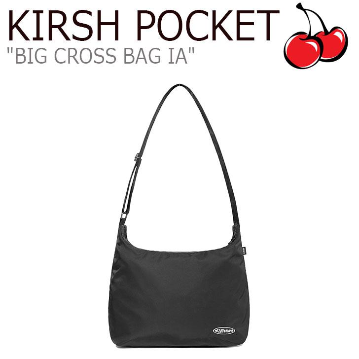 キルシーポケット ボディーバッグ KIRSH POCKET メンズ レディース BIG CROSS BAG IA ビック クロスバッグ BLACK ブラック CNBA9FL16BK バッグ
