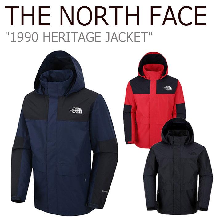 ノースフェイス ナイロンジャケット THE NORTH FACE メンズ 1990 HERITAGE JACKET ヘリテージジャケット RED NAVY BLACK レッド ネイビー ブラック NJ2HJ51A/B/C ウェア 【中古】未使用品