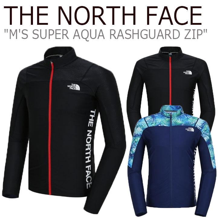 ノースフェイス 水着 THE NORTH FACE メンズ M'S SUPER AQUA RASHGUARD ZIP スーパー アクア ラッシュガード ジップアップ NAVY ネイビー BLACK ブラック NJ5JJ03A/C ウェア 【中古】未使用品