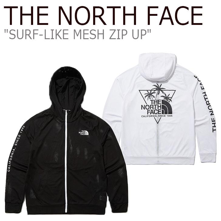 ノースフェイス パーカ THE NORTH FACE メンズ レディース SURF-LIKE MESH ZIP UP サーフ ライク メッシュ ジップアップ BLACK ブラック WHITE ホワイト NJ5JL09J/K ウェア 【中古】未使用品