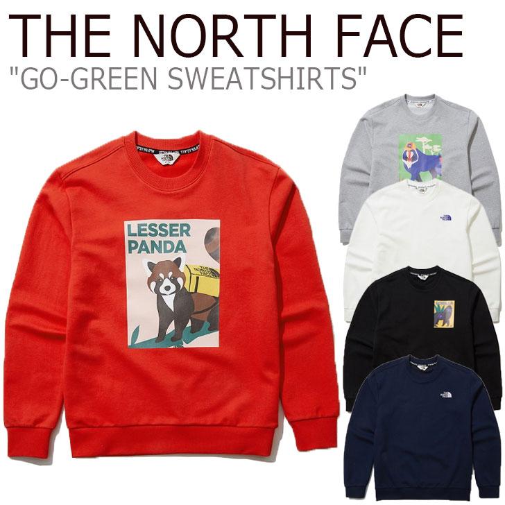 ノースフェイス トレーナー THE NORTH FACE メンズ レディース GO-GREEN SWEATSHIRTS ゴー グリーン スウェットシャツ 全5色 NM5ML01J/K/L/M/N ウェア 【中古】未使用品