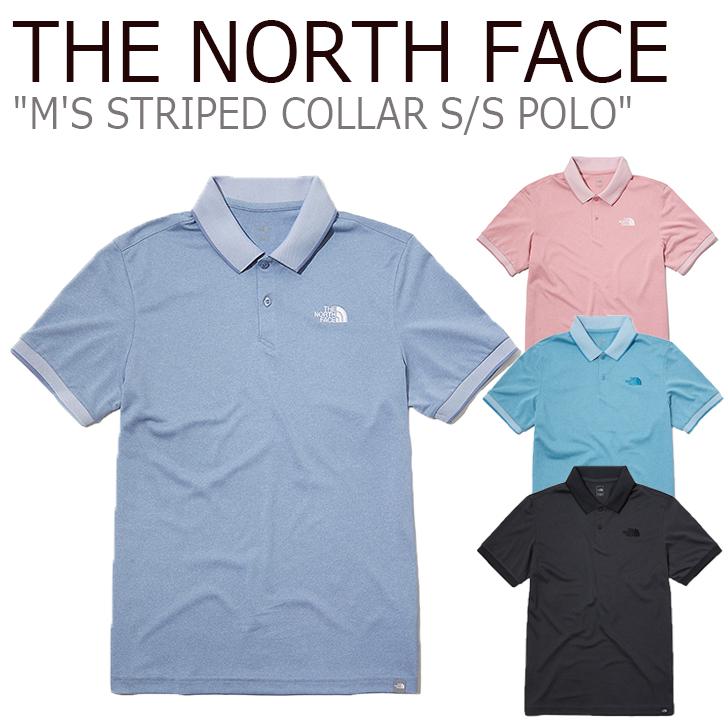 ノースフェイス ポロシャツ THE NORTH FACE メンズ M'S STRIPED COLLAR S/S POLO ストライプド カラー ショートスリーブ ポロ 半袖 全4色 NT7PL02A/B/C/D ウェア 【中古】未使用品