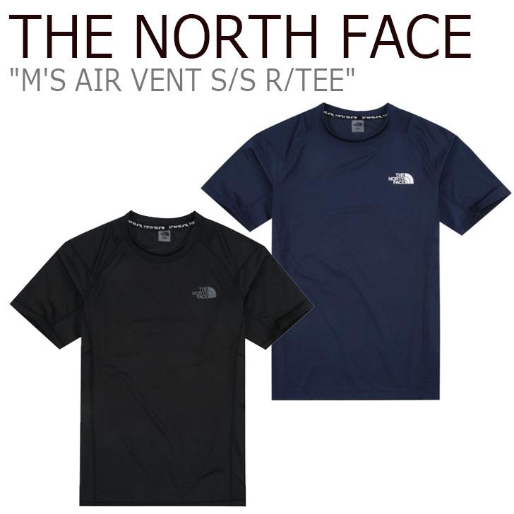 ノースフェイス Tシャツ THE NORTH FACE メンズ M'S AIR VENT S/S R/TEE メンズ エアー ベント ショートスリーブ ラウンドTシャツ 半袖 BLACK NAVY ブラック ネイビー NT7UJ01J/K ウェア 【中古】未使用品