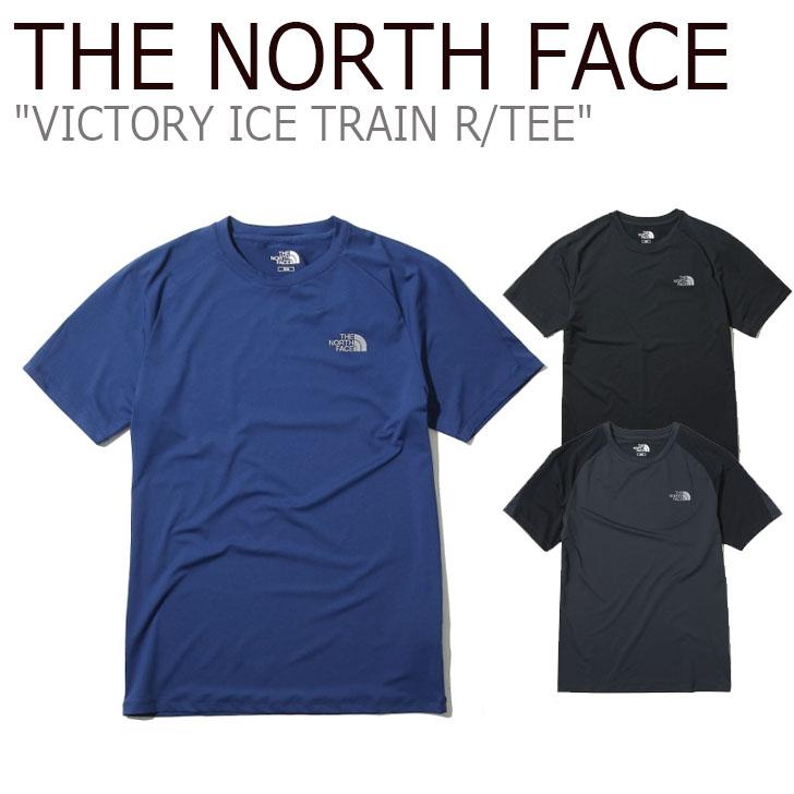 ノースフェイス Tシャツ THE NORTH FACE メンズ レディース VICTORY ICE TRAIN R/TEE ビクトリー アイス トレイン ラウンドT 半袖 コバルトブルー ブラック グレー NT7UK01J/K/L ウェア 【中古】未使用品