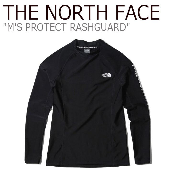 ノースフェイス 水着 THE NORTH FACE メンズ M'S PROTECT RASHGUARD プロテクト ラッシュガード BLACK ブラック NT7XK00A ウェア 【中古】未使用品