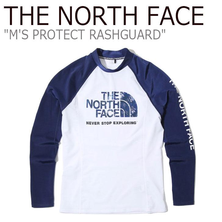 ノースフェイス 水着 THE NORTH FACE メンズ M'S PROTECT RASHGUARD プロテクト ラッシュガード WHITE ホワイト NT7XK00C ウェア 【中古】未使用品
