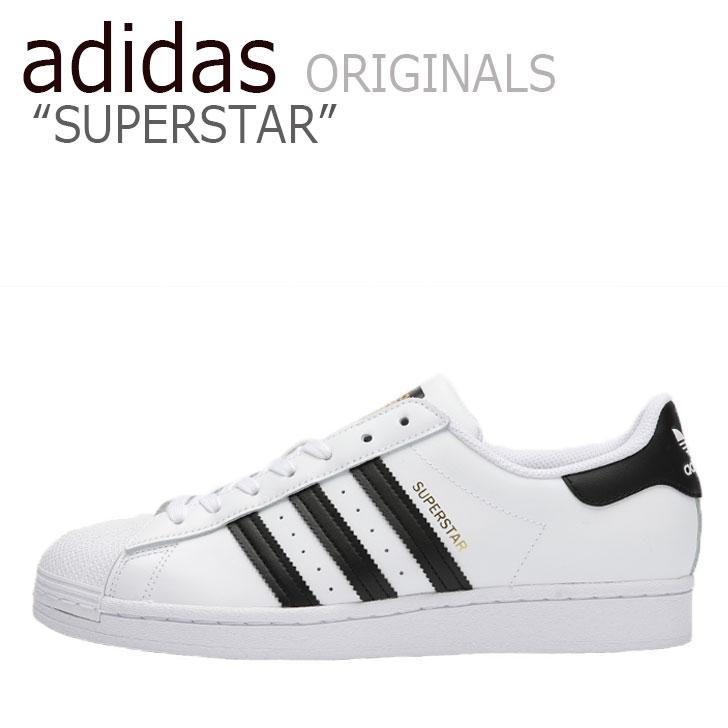 アディダス スーパースター スニーカー adidas メンズ レディース SUPERSTAR スーパースター WHITE ホワイト BLACK ブラック EG4958 シューズ 【中古】未使用品