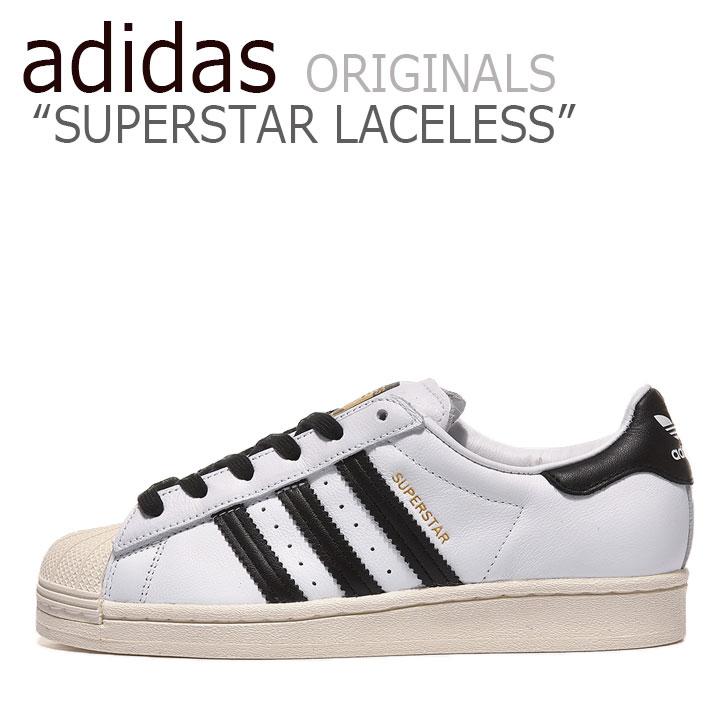 アディダス スーパースター スニーカー adidas メンズ レディース SUPERSTAR LACELESS スーパースター レースレス WHITE ホワイト BLACK ブラック FV3017 シューズ 【中古】未使用品