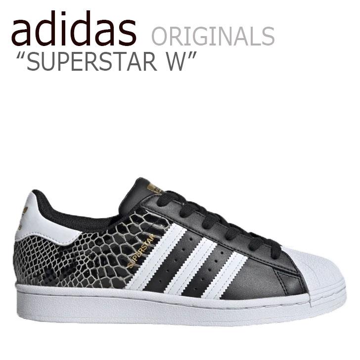 アディダス スーパースター スニーカー adidas メンズ レディース SUPERSTAR W スーパースター BLACK ブラック WHITE ホワイト FV3327 シューズ 【中古】未使用品