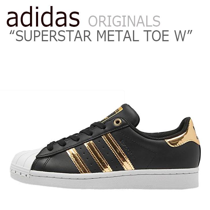 アディダス スーパースター スニーカー adidas メンズ レディース SUPERSTAR METAL TOE W スーパースター メタル トー BLACK ブラック GOLD ゴルドー FV3329 シューズ 【中古】未使用品
