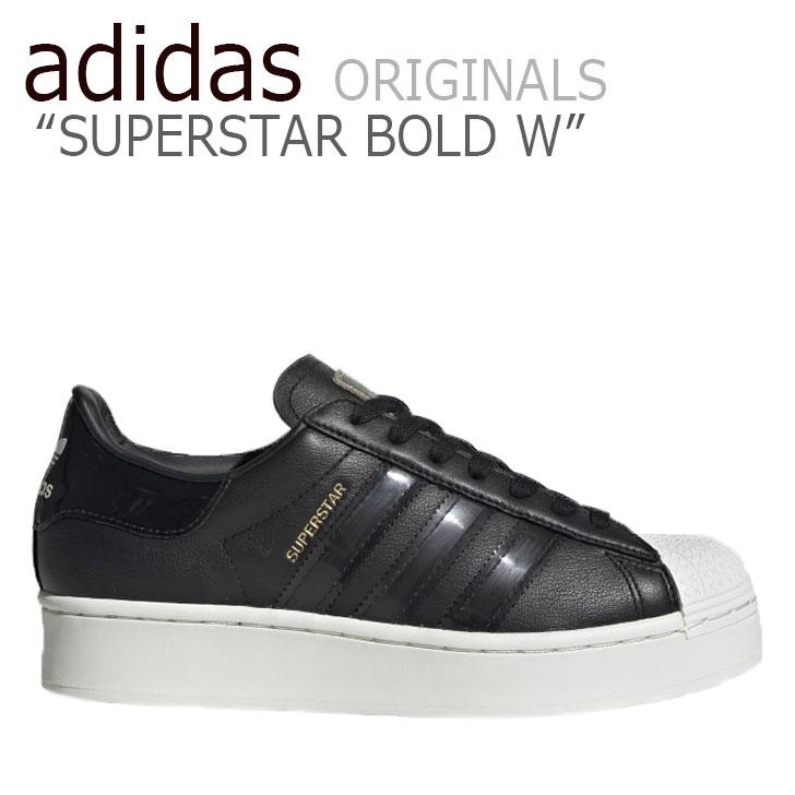 アディダス スーパースター スニーカー adidas レディース SUPERSTAR BOLD W スーパースター ボールド BLACK ブラック FV3354 シューズ 【中古】未使用品